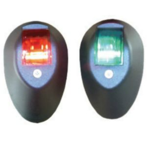 Port and Starboard navigation lights in a choice of white or black rwb 1097 rwb1098