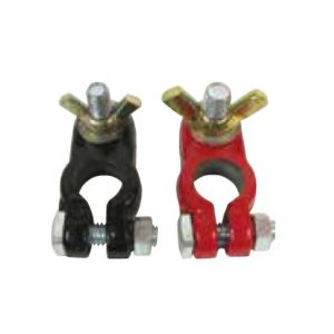 Painted Red and Black Lead Battery Terminals