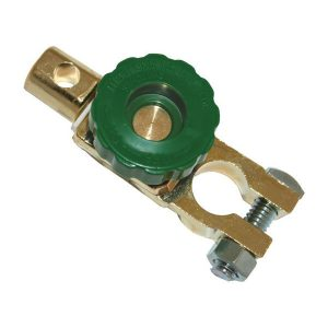 Brass battery terminal for boats, cars or caravans