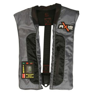 Axis Offshore Pro 150 Mk2 Manual inflated life jacket in grey and black