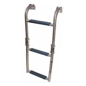 Fold Stainless steel 3 step boat boarding ladder RWB995