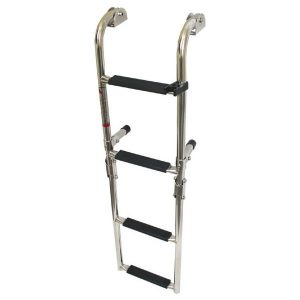 Fold Stainless steel 4 step boat boarding ladder RWB996