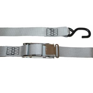 Heavy Duty Stainless Steel over centre buckle boat tie down strap rated to 550kg