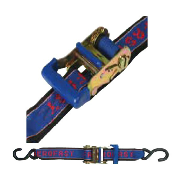 Heavy Duty Boat tie down straps focusing on ratchet mechanism BLA215050