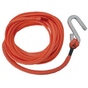 Tenob Hitech winch rope with stainless steel s hook.