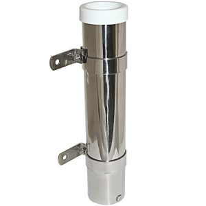 Quality stainless steel side mount fishing rod holder for boats.