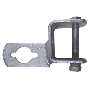 Clamp on Outboard motor support bracket with nut and bolt