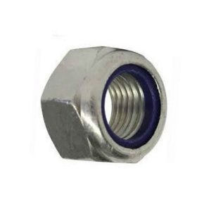 Hot dipped galvanised nyloc nut