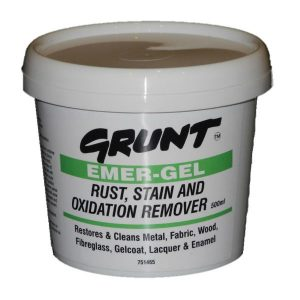 Grunt stain remover - remove rust and heavy stains