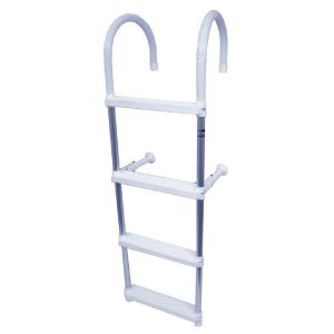 Alloy plastic 4 step ladder RWB1037