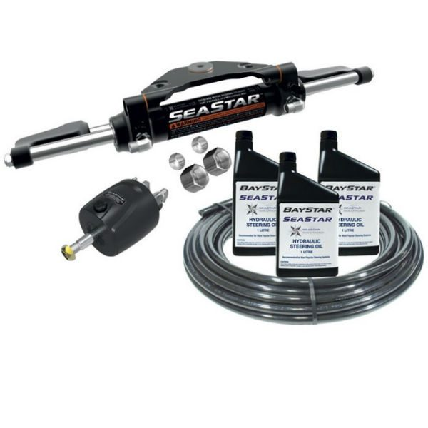 SeaStar Front Mount Hydraulic Steering Kit - Single Outboard To 300hp