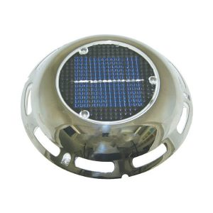 Solar Vent With Battery & Stainless Steel Cover